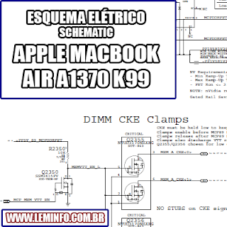 Esquema Elétrico Notebook Laptop Notebook Apple Macbook Air A1370 K99 Manual de Serviço  Service Manual schematic Diagram Notebook Laptop Apple Macbook Air A1370 K99    Esquematico Notebook Laptop Apple Macbook Air A1370