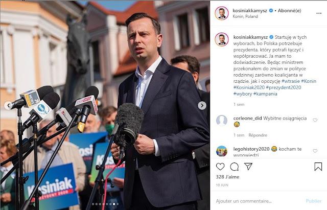 Władysław Kosiniak-Kamysz przemawia do mikrofonów na wiecu wyborczym