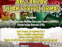 Aksi Akbar Tolak Perppu Ormas, Jum'at Besok Digelar di Medan