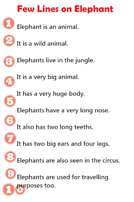 short 10 lines essay on elephant