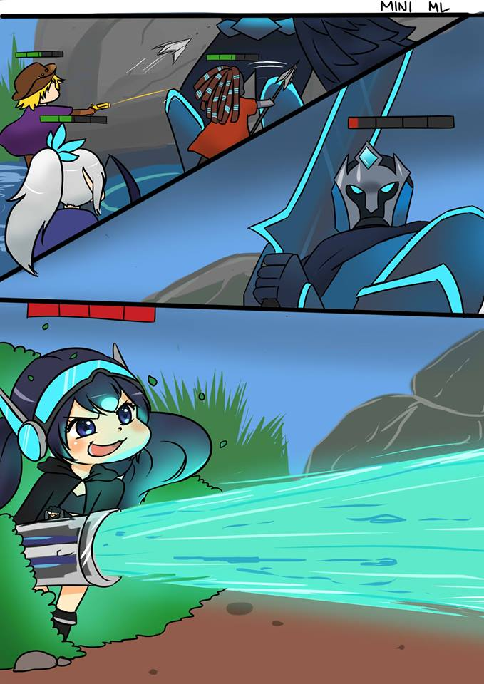 30 Mini ML Comic By Buns Art Featuring Chibi ML Heroes Eru Gaming