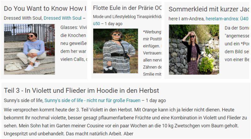 Aktuelle Darstellung von Blogger-Posts bei Blogspot