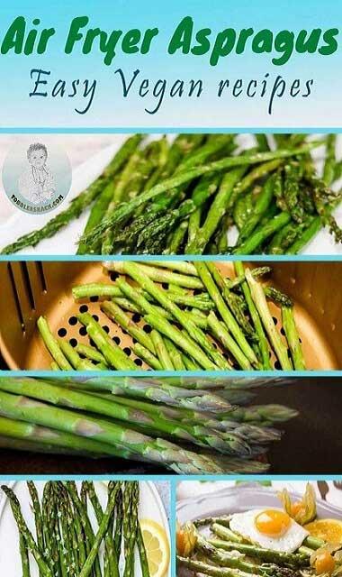 Asparagus in air fryer Best recipes; air fryer asparagus; air fryer asparagus recipes; air fryer roasted asparagus; cooking asparagus in air fryer; bacon wrapped asparagus; asparagus cooked in air fryer;