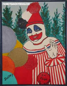 Pogo Clown Serial Killer Painting Memorabilia Scary