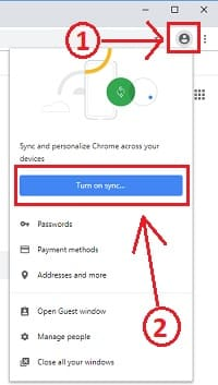 Sign in to google chrome