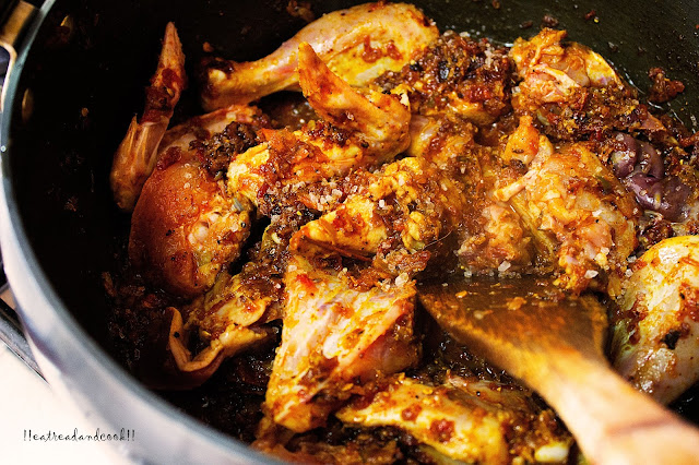how to make Highway Chicken Curry recipe and preparation / Dhaba Style Chicken Curry recipe and preparation with step by step pictures