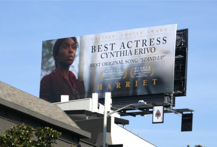 Harriet Best Actress Cynthia Erivo FYC billboard