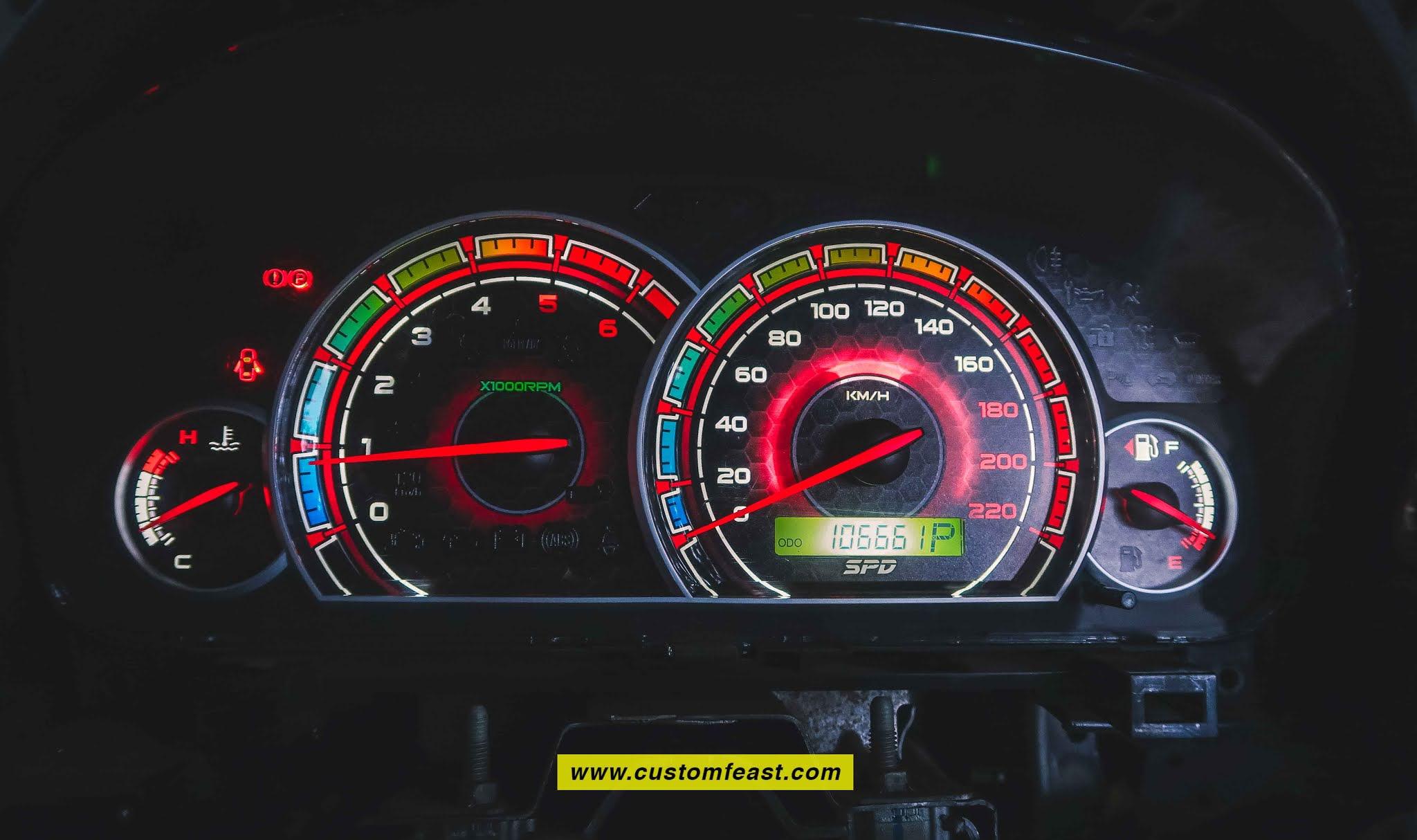 Custom cluster gauge chevy