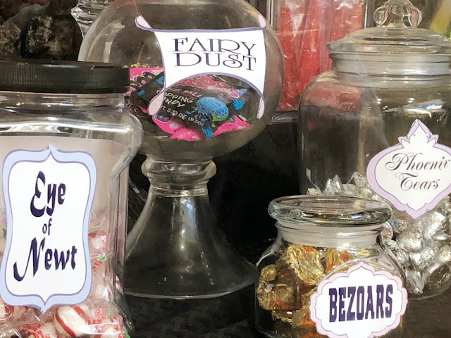 Create the perfect Harry Potter potions classroom or Halloween potions lab with these free printable potion labels. Simply save, print, and add to a jar of your favorite Halloween candies for the perfect dessert table. Check out the potion label candy ideas included.