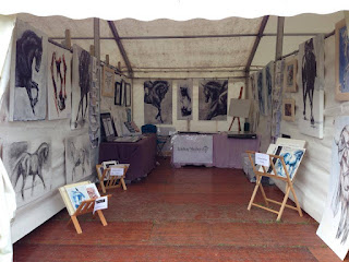 Equestrian art stall, Blair 2015, Blair horse trials, horse in art, contemporary equestrian art