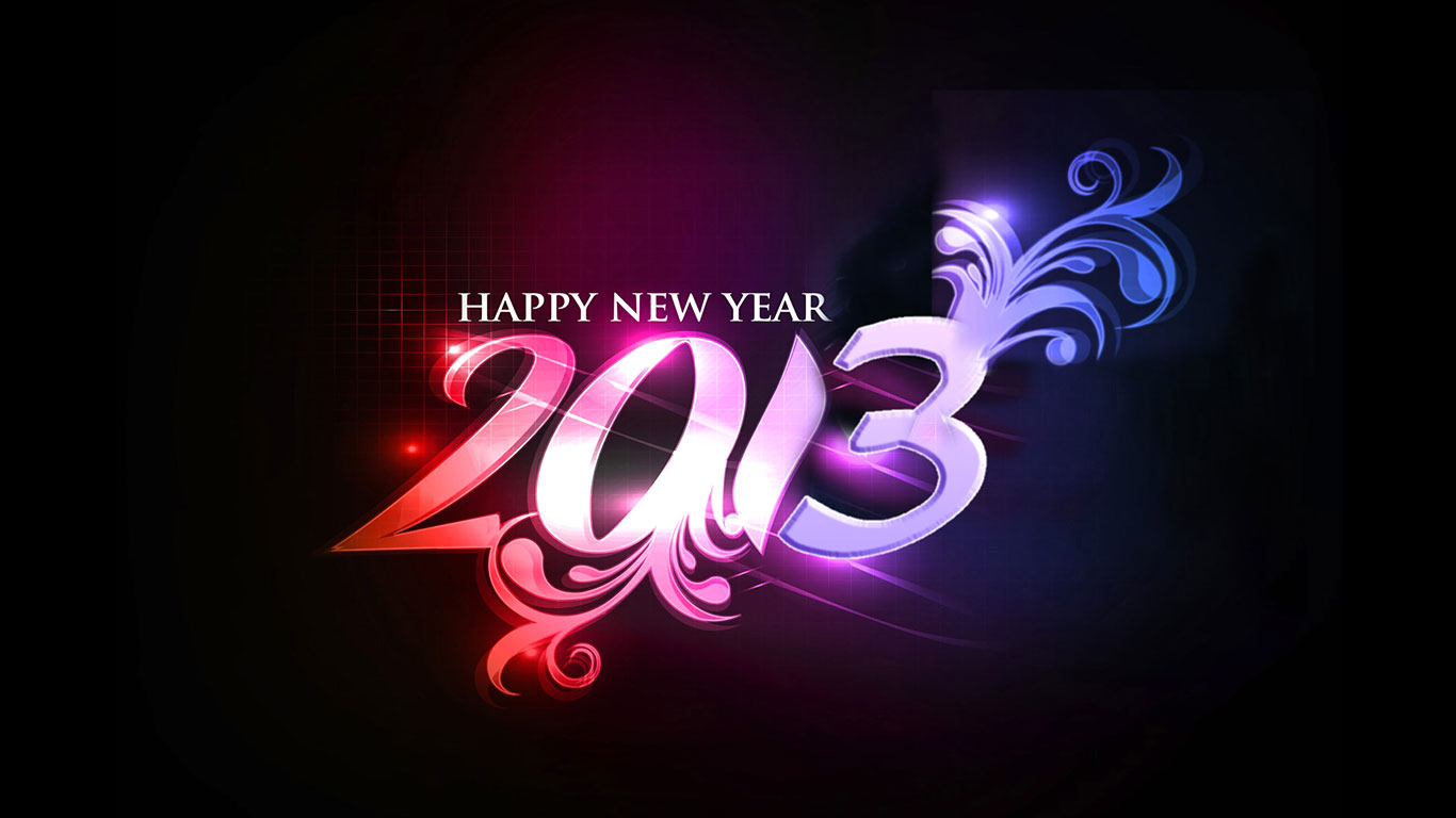 pictures of happy new year 2013 hd wallpapers 2013 new year brand new . 1366 x 768.Happy New Year Songs Hindi