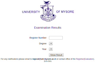 Mysore University Results 2018