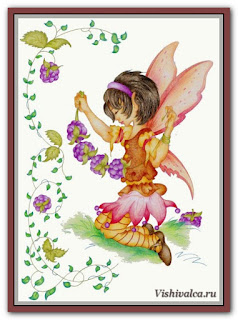 Cross stitch chart «KAM 1112 Blackberry Fairie - artwork by Karen Middleton»