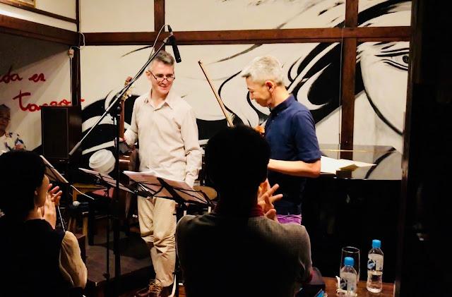 2018年8月25日喜多直毅(ヴァイオリン)レオナルド・ブラーボ(ギター) 雑司が谷エルチョクロ