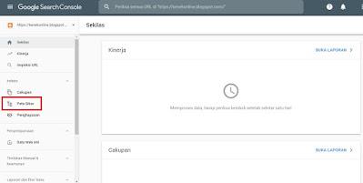 index artikel blog di google search console