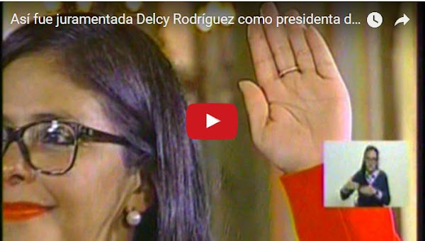 "Delcy ""Carmona"" Rodriguez se juramentó a si misma en la ANC"