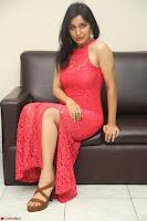 Sakshi Kakkar in Red Legsplit Sleeveless Gown at Dare movie Press meet ~  Exclusive 022.JPG