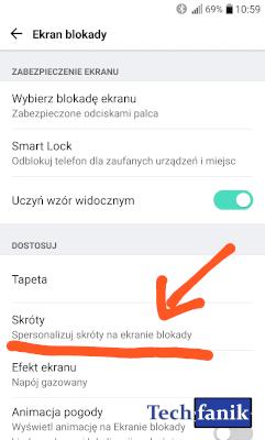 Ustawienia ekranu blokady