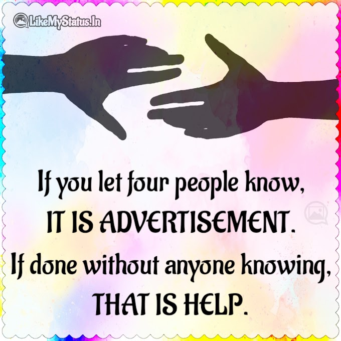 Advertisement And Help Different