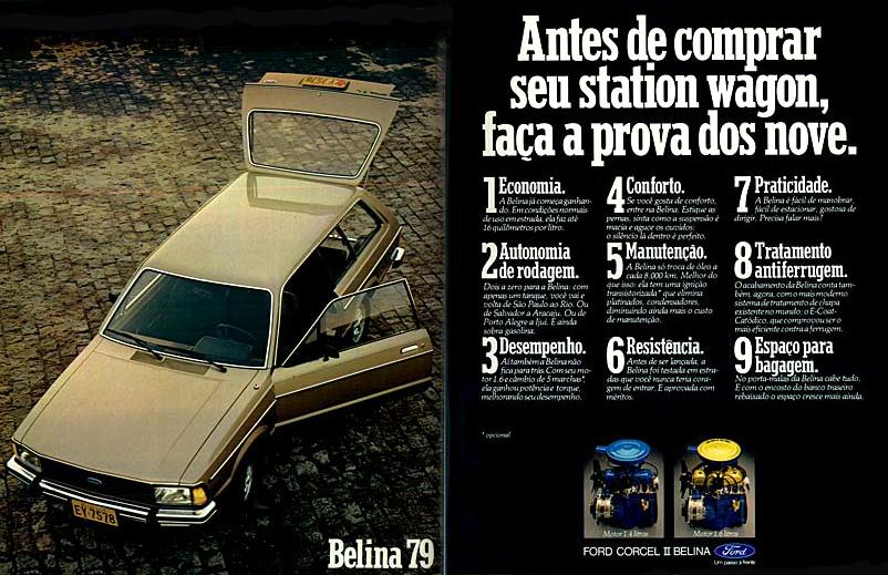 Anúncio da Ford veiculado em 1979 promovendo a Belina