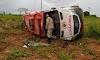 Águas Lindas: Ambulância Capota e deixa dois feridos na BR-070