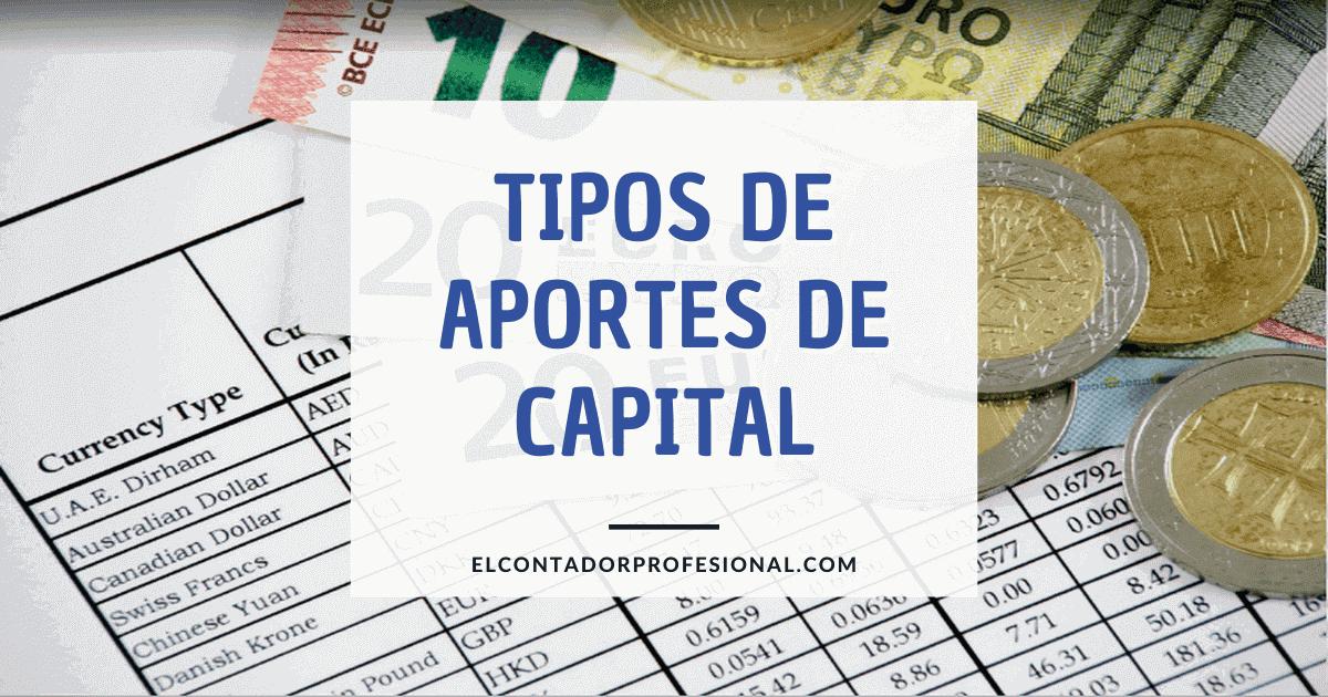 tipos de aportes de capital