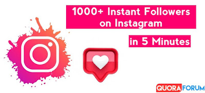 How to get 1K followers on Instagram in 5 minutes in 2021? Free, Real & Quick Trick