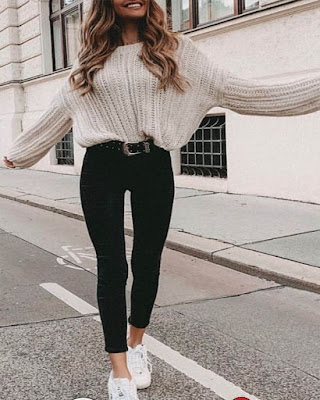 Outfits crop top casual de invierno