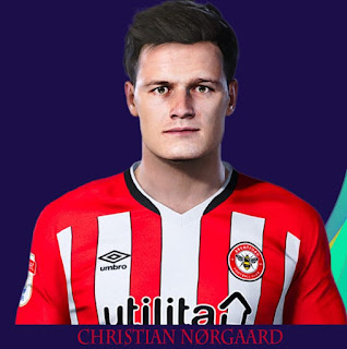PES 2021 Faces Christian Nørgaard by Rachmad ABs