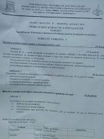 Subiecte gradul II educatoare Galati, august 2015