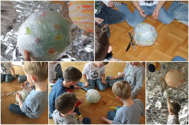 Spielidee Meteoriten Essen Geburtstagstisch Kindergeburtstag Deko LEGO Weltraum Party Jules kleines Freudenhaus