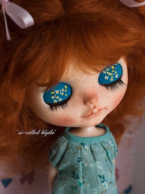Fiona OOAK custom doll lids