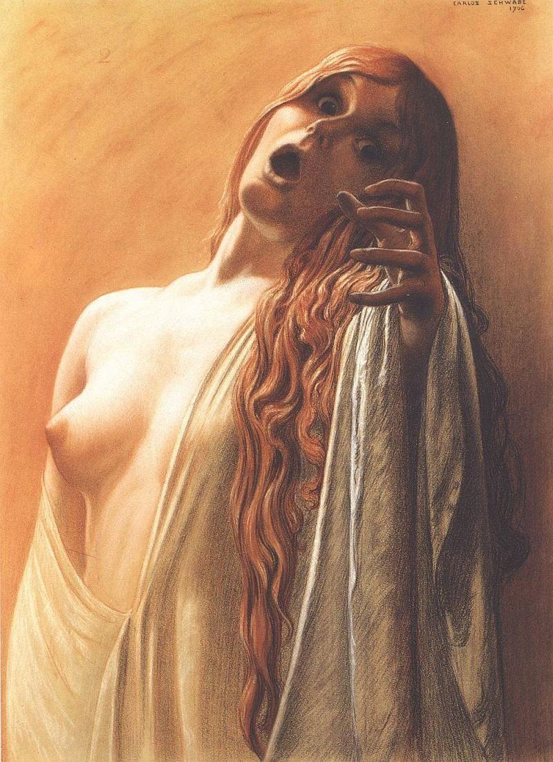 El Hurgador [Arte en la Red]: Carlos Schwabe [Pintura, Ilustración]
