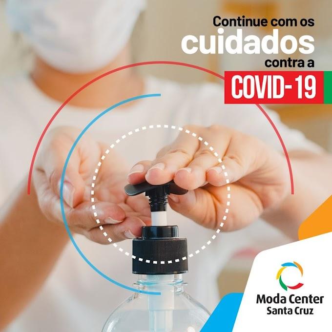 Continue com os cuidados contra a Covid-19