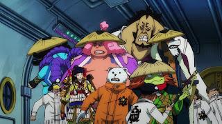 ワンピースアニメ 992話 ワノ国編   ONE PIECE ハートの海賊団 ポーラータング号