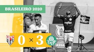 Gols – Fluminense 3 x 1 Santos – Atlético-GO 0 x 3 Palmeiras