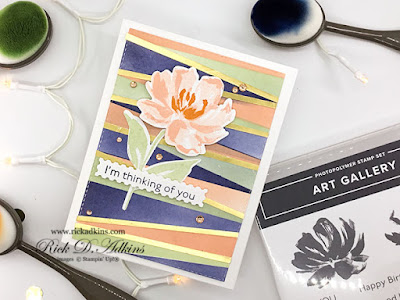 Ink Blending Background with Stampin' Up!'s New Blending Brushes along with the Art Gallery Bundle click here to learn more