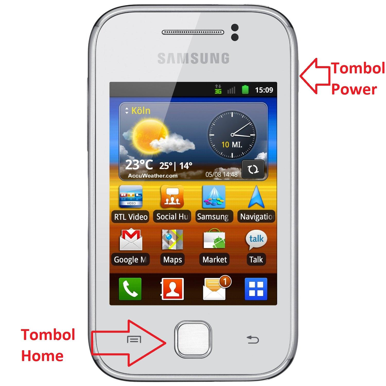 Cara Screenshot Di Samsung Galaxy Young GT-S5360 Tanpa