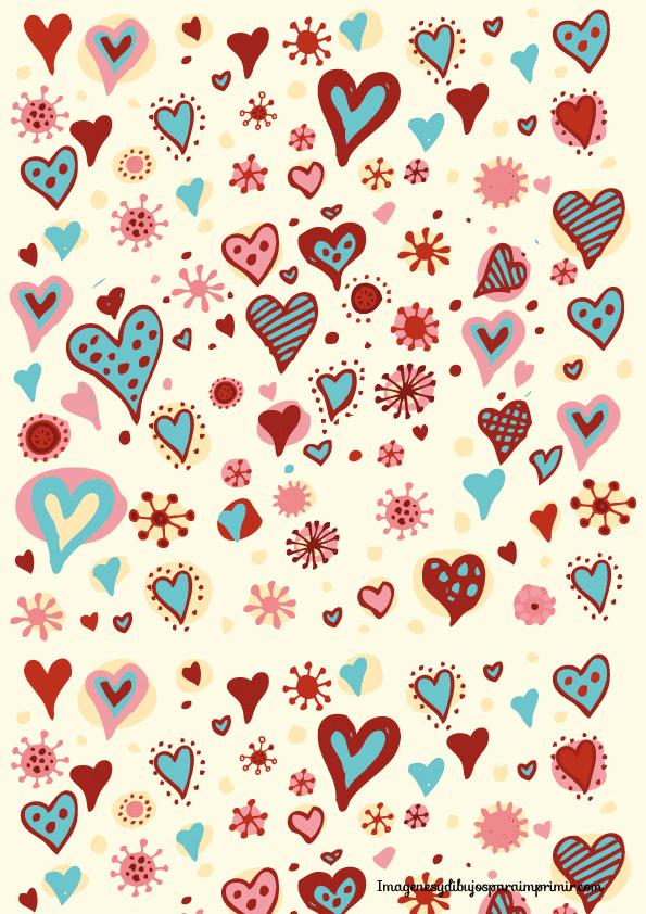 Papel de corazones para imprimir imagenes y dibujos para for Papel decorativo dorado