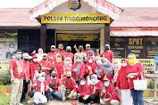 SMANSA 82 Gelar Bakti Sosial Bagi-bagi Masker di Depan Mapolsek Tinggimoncong