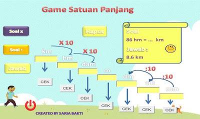 game matematika satuan panjang