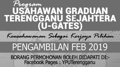 Permohonan Program Usahawan Terengganu Sejahtera (U-GATES) 2019 Online