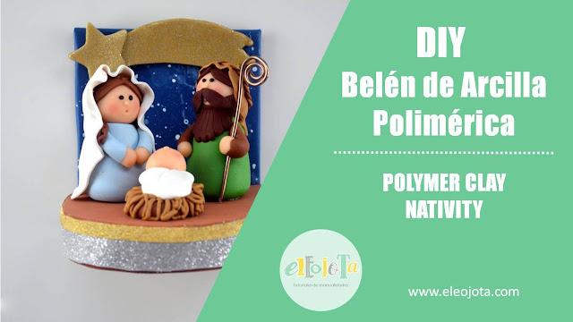 belén arcilla polimérica polymer clay nativity