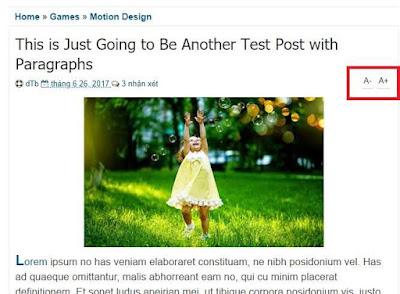 Tạo button tăng giảm cỡ chữ trong bài viết cho blogspot/website