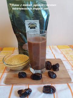 mleko jaglane, kakao, zdrowe kakao, daktyle, kasza jaglana