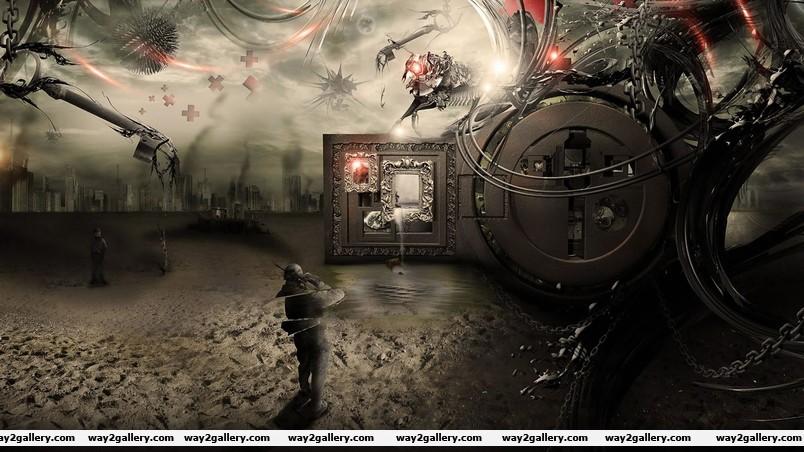 War scene wallpaper