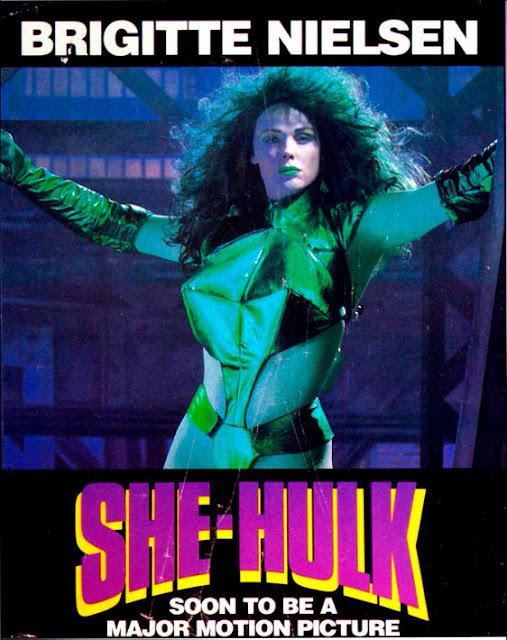Póster película Hulka con Brigitte Nielsen