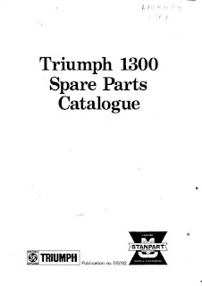 Triumph 1300, 1300TC 1965-1970 Spare Parts Catalogue front cover