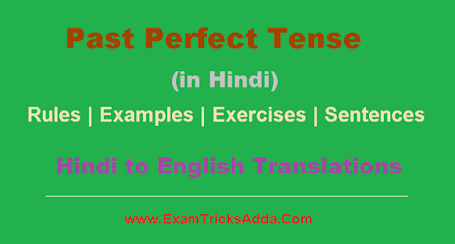 Past Perfect Tense in Hindi - Rules | Examples | Sentences