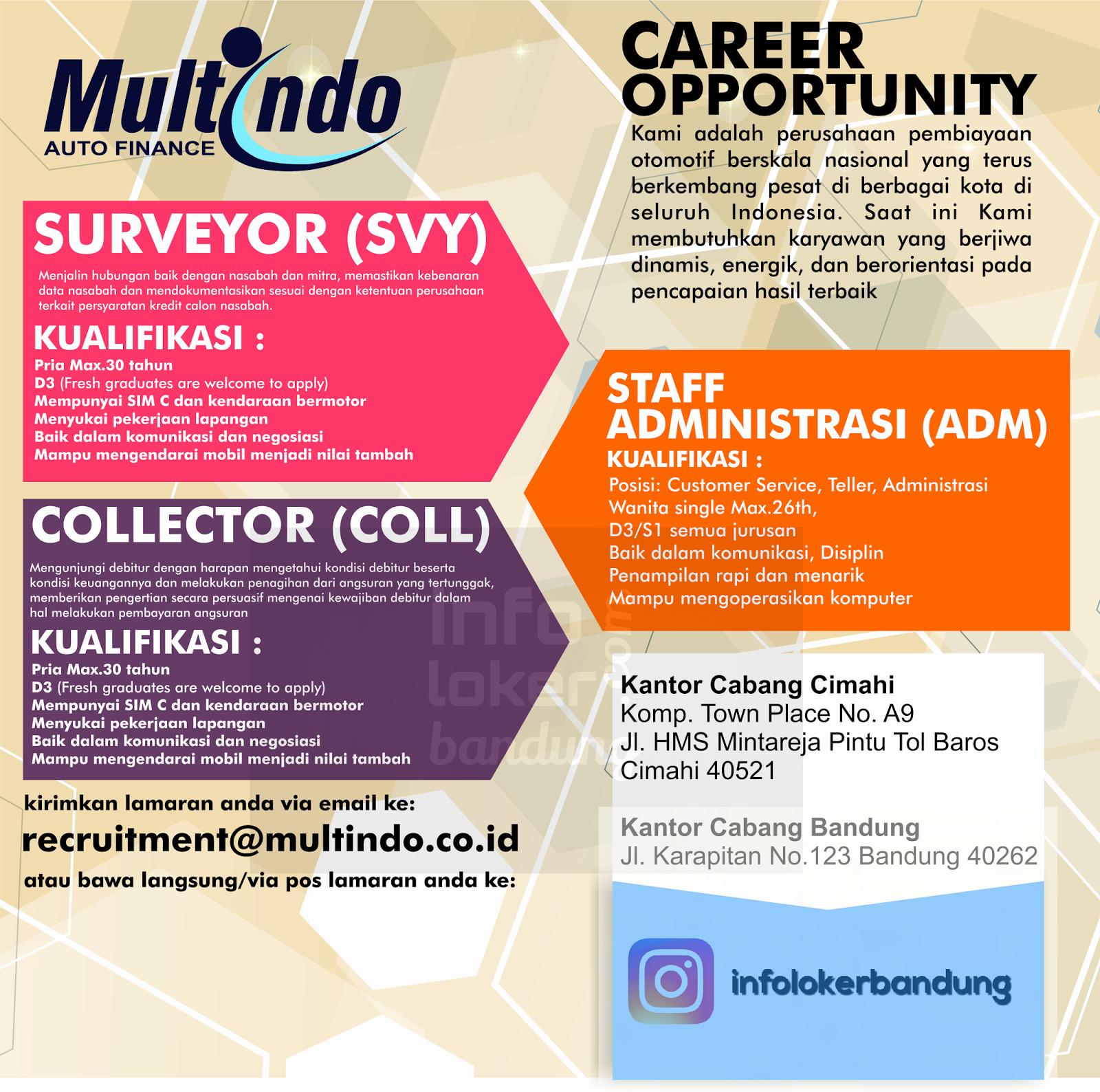 Lowongan Kerja PT Multindo Auto Finance Bandung Januari 2017